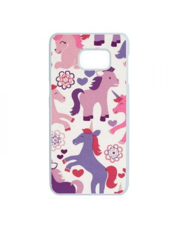 Coque rigide Samsumg Galaxy S7 - Licornes de couleurs