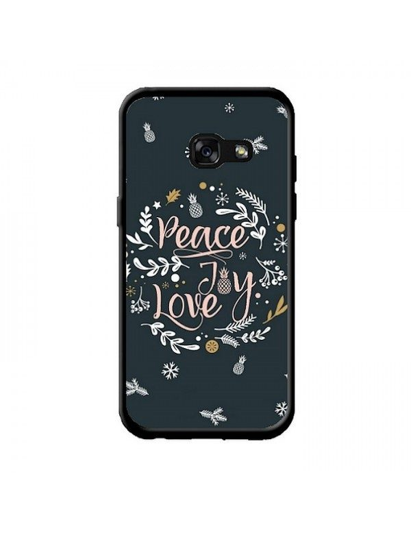 Coque Samsung Galaxy A3 2017 - Peace and love ananas.