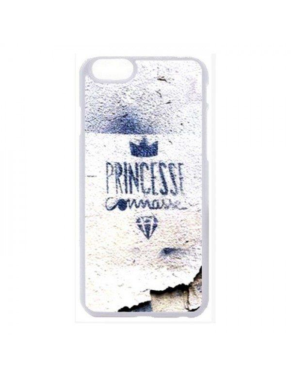 Coque rigide iPhone 6/6S - Princesse connasse bleu