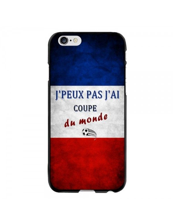 Coque iPhone 6/6S -  J'peux pas j'ai coupe du monde 2018 France