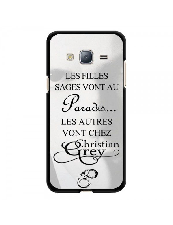 Coque rigide Samsung Galaxy J3 de 2016 - Christian Grey - Menottes
