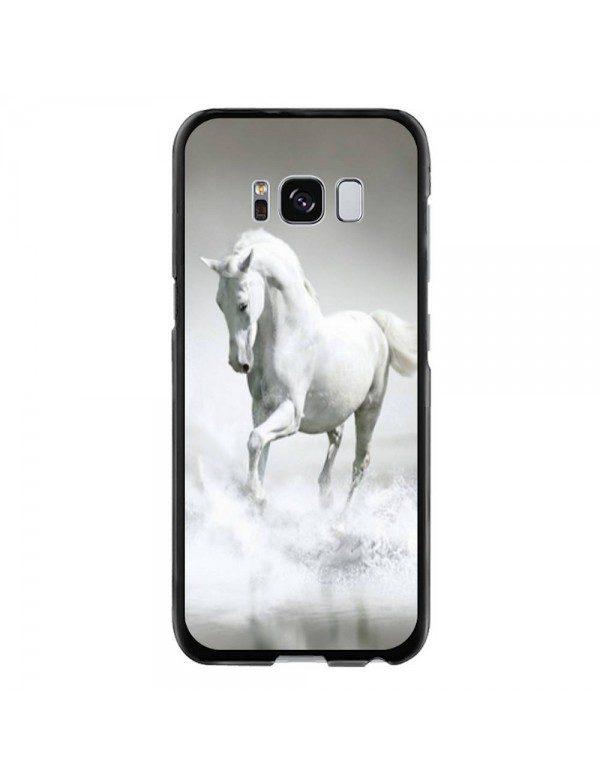 Coque rigide pour Samsung Galaxy S8 - Magnifique cheval blanc sur l'eau