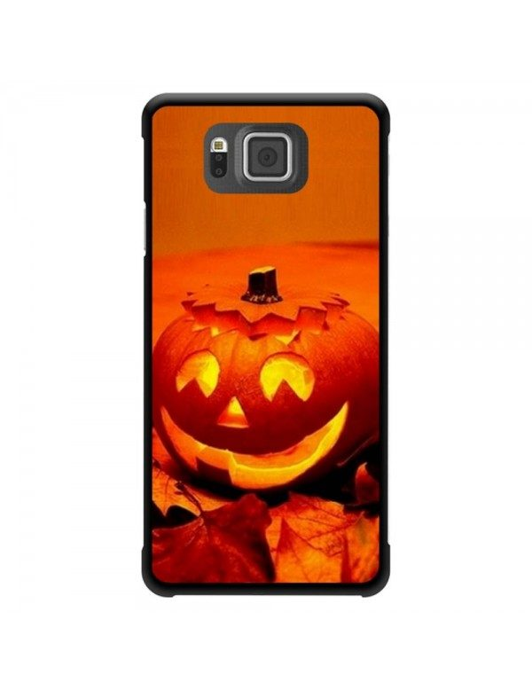 "Coque Samsung Galaxy Alpha ""Halloween"" citrouille orange"