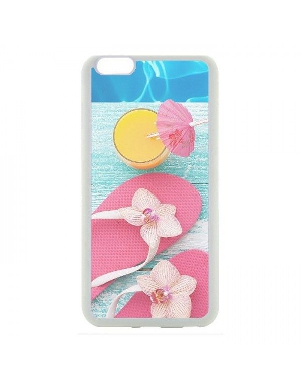 Coque rigide pour  iPhone 5C  tongs cocktail plage