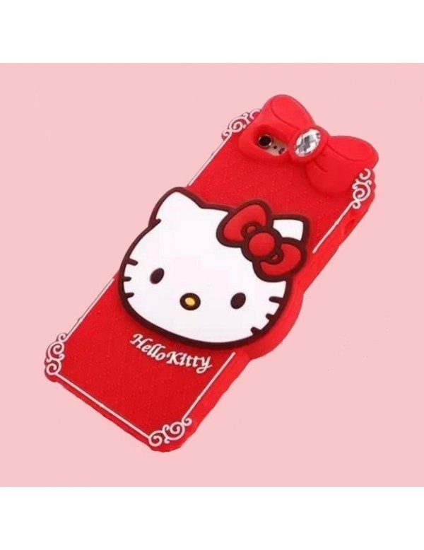 iPhone 5/5S Coque en silicone Hello Kitty rouge