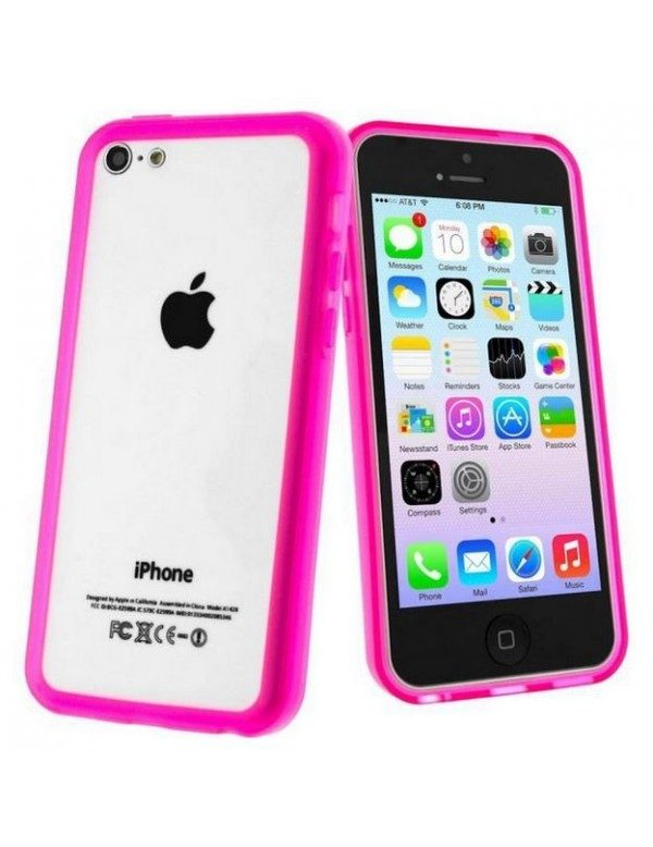 Bumper silicone iPhone 5C-Rose