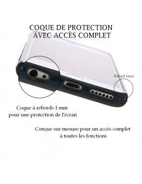 Coque personnalisable pour iPhone 12 PRO - Contour Souple Noir