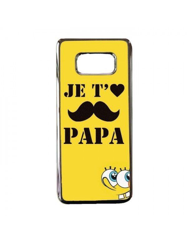 Coque rigide Samsung Galaxy S8 - Je t'aime Papa moustache